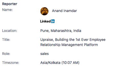 Enriched profile screenshot 1